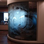 Sandblasted Glass Window