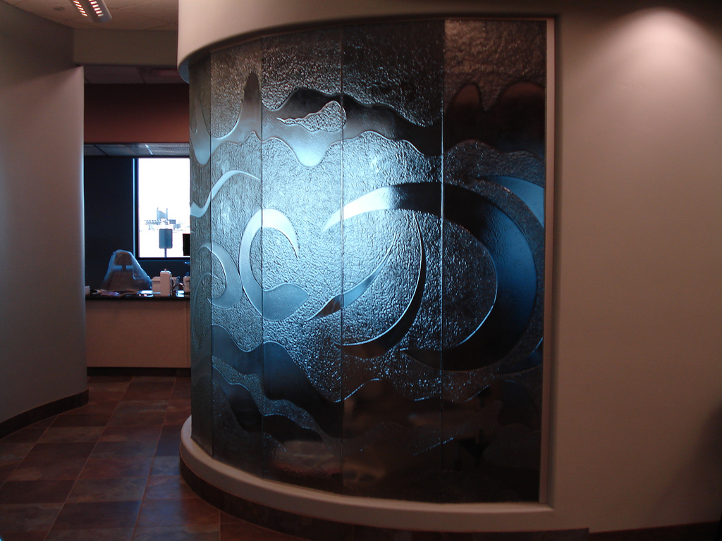 Doctor Office Cast Glass Window