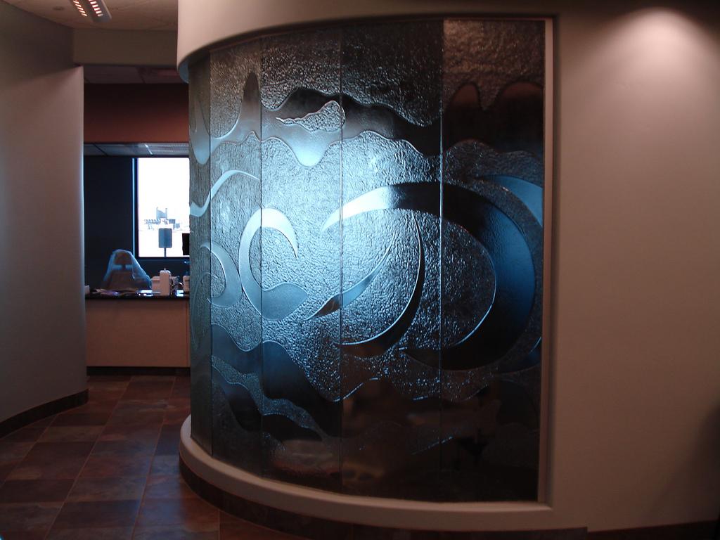 Doctor Office Cast Glass Window