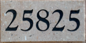 Cantera Stone with Black Numbers