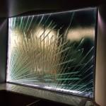 LED Edge Lit Sandblasted Cast Glass Window